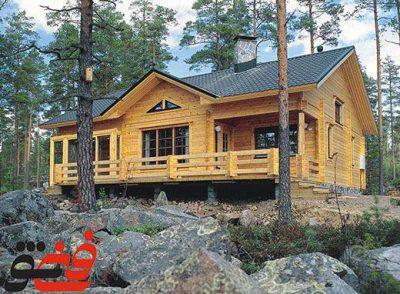 معماری خانه های چوبی