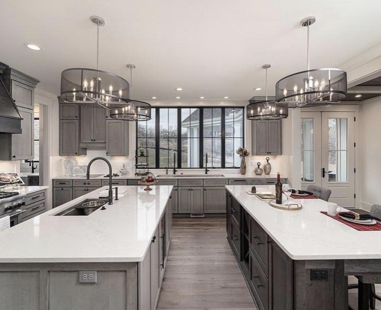 انتخاب کابینت تک یا دو رنگ,راهنمای انتخاب کابینت آشپزخانه,طراحی کابینت,