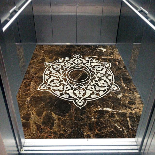 کفپوش سنگی کابین آسانسور,انواع کفپوش آسانسور,بهترین کفپوش کابین آسانسور,
